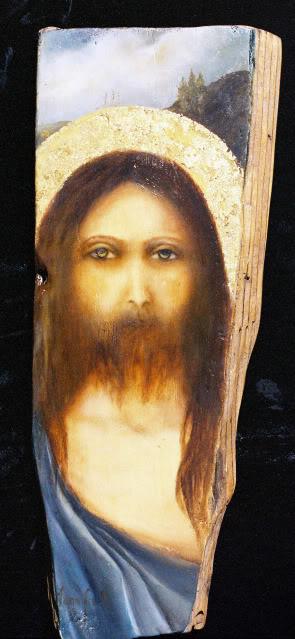 jesus-distressed-wood-icon