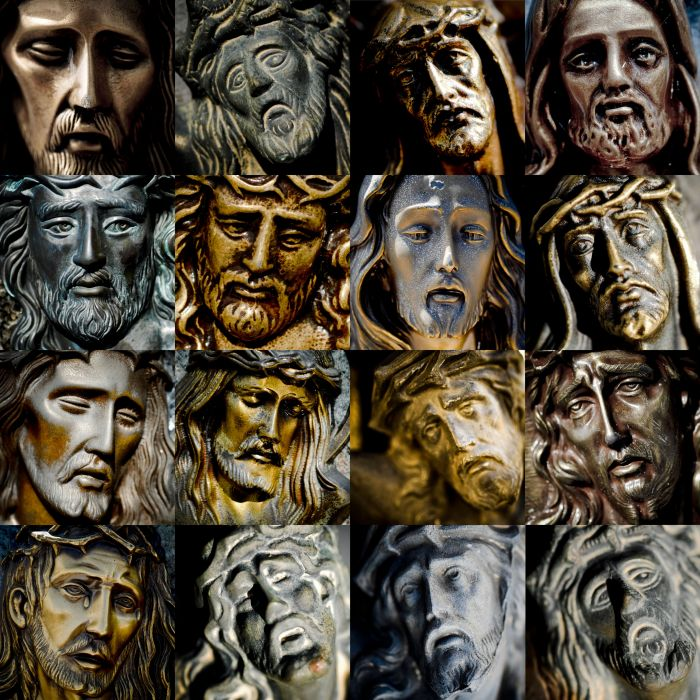 images of jesus face. Jesus came with his disciples
