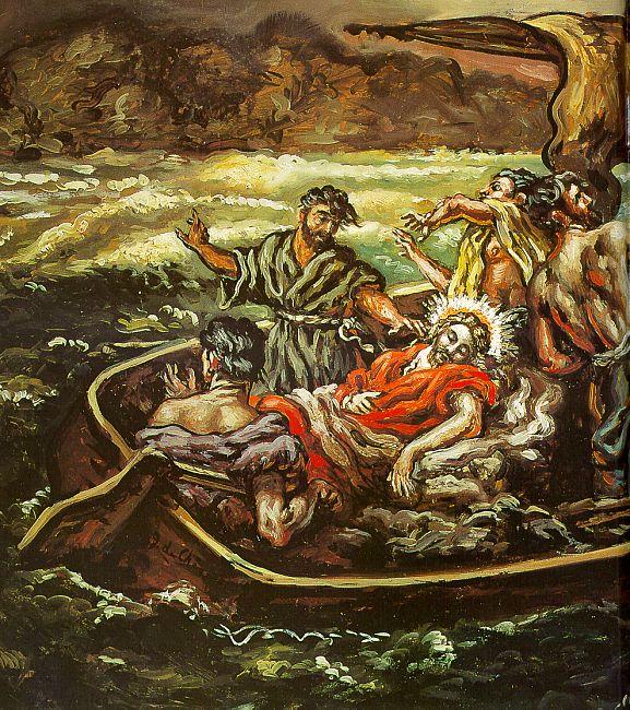 Jesus Stills the Storm (Chirico)