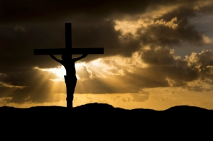 Jesus Christ Crucifixion on Good Friday Silhouette